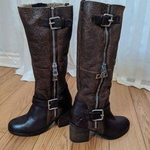 🆕 Rudsak ballena leather suede brown  tall boots